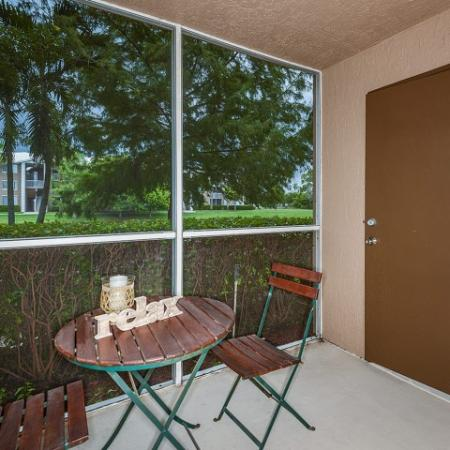 Private screened-in lanai | Promenade at Reflection Lakes | apartments in Fort Myers FL