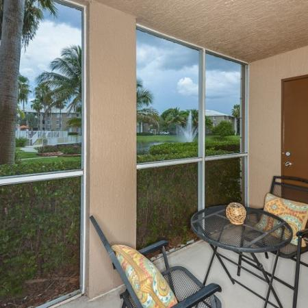 Private patio | Promenade at Reflection Lakes | Fort Myers FL apartments