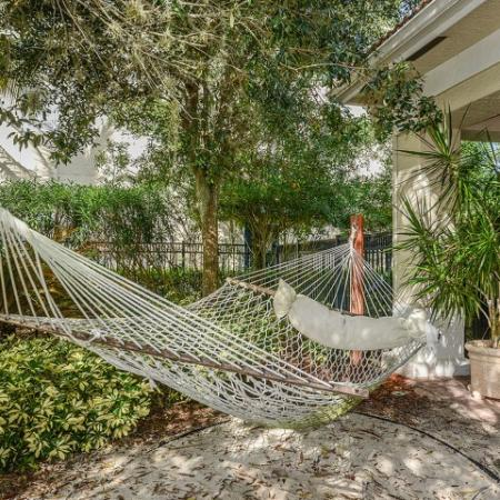 Community hammocks | Yacht Club apartments | Bradenton FL