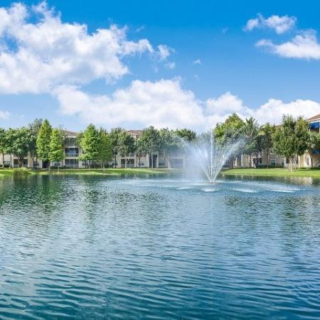 Community lake | Heritage Harbor water views | apartment community