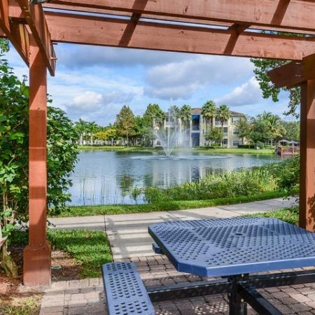 Picnic area with water views | yacht club at heritage harbor | Bradenton apartments
