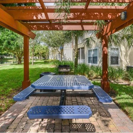 Shaded picnic area | outdoor grilling | Yacht Club at Heritage Harbor community