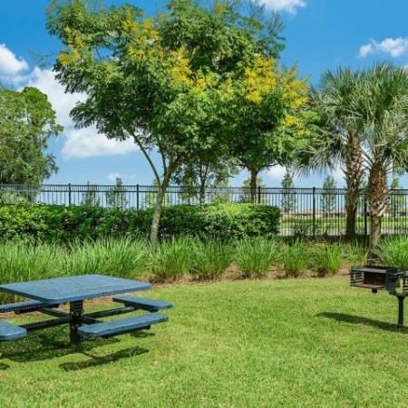 Charcoal grills | Picnic area | Yacht Club apartment community