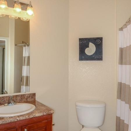 1 bedroom apartment bathroom | Yacht Club at Heritage Harbor