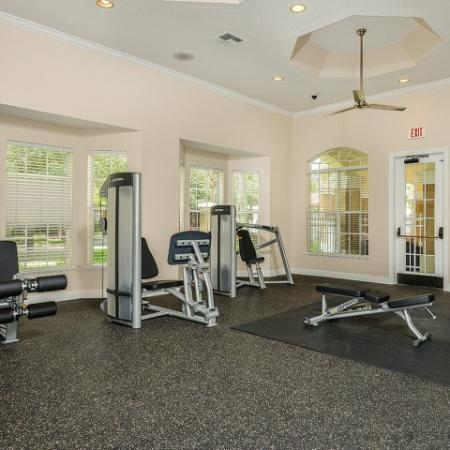 Fitness center in Grandeville on Saxon apartments