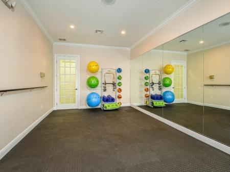 Fitness center at Orange City rentals