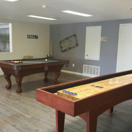 Game room | shuffleboard table | Promontory apartments