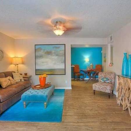 Living room at Vizcaya apartments | Santa Fe NM