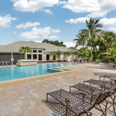 Pool at Fort Myers apartments