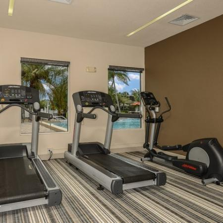 Fitness center at Fort Myers apartments