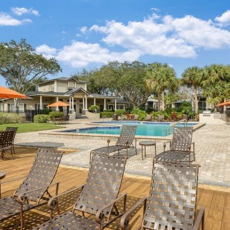 Poolside sundeck | Melbourne FL apartments