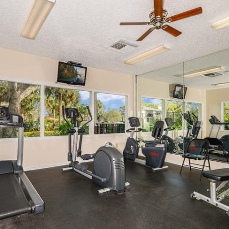 Apartment gym | cardio equipment | Plantation Club at Suntree
