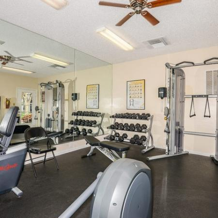Plantation Club at Suntree fitness center | weight equipment