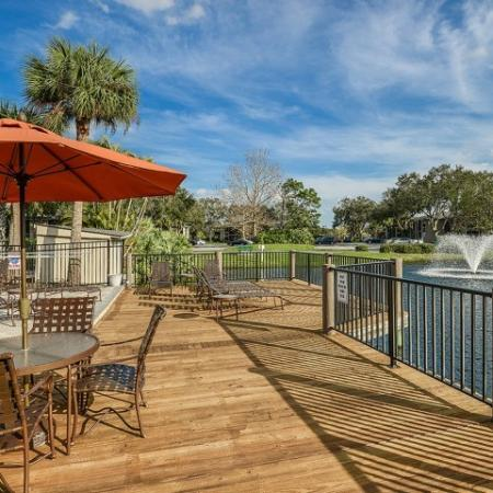Sundeck | water view | Plantation Club at Suntree rentals