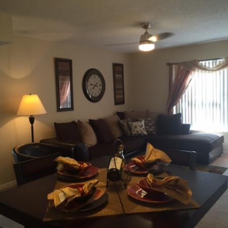 Lakeside at Greenboro apartment with open floor plan