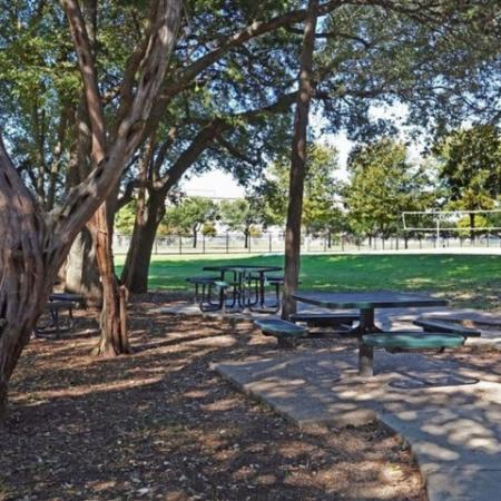 Picnic tables | Monterey Ranch | apartment amenities
