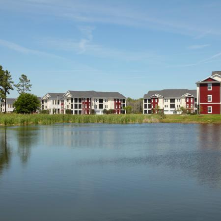 View of Lake and Village at Terra Bella apartment buildings
