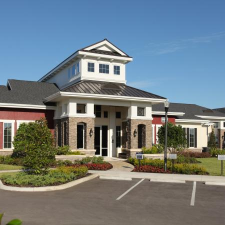 Exterior of Village at Terra Bella leasing office and clubhouse