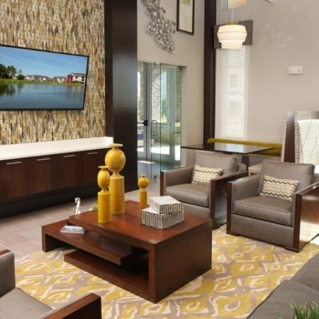 Clubhouse sitting area | The Village at Terra Bella apartment complex