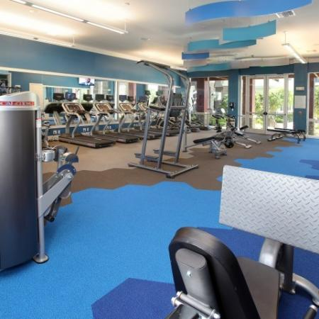Weight and cardio equipment | Village at Terra Bella fitness center