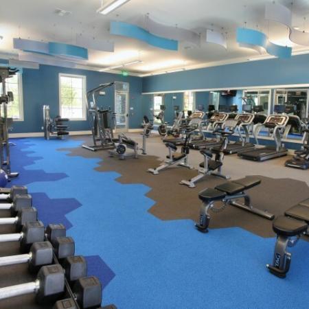 Free weights | apartment gym | Village at Terra Bella