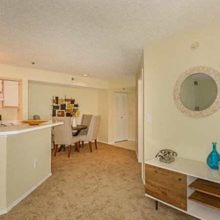 Living area in 2 bedroom apartment at Royal St George  West Palm Beach FL rental