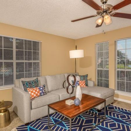 Living room of 2 bedroom apartment | Windward at the Villages rentals