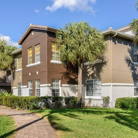 Exterior of apartment homes in Boynton Beach Florida