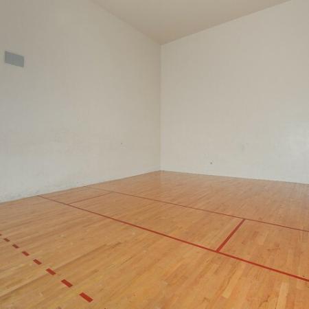 Racquetball court at Via Lugano fitness center