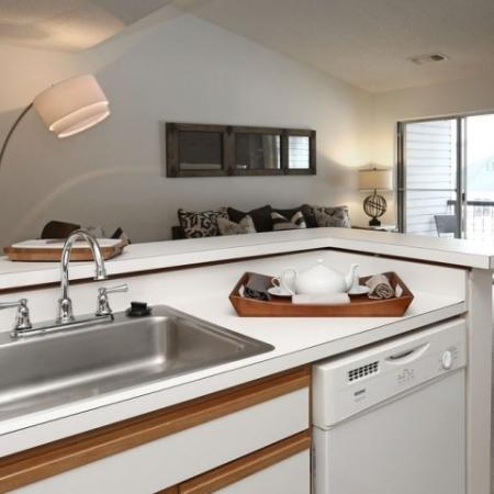 Kitchen with dishwasher | The Pavilions apartment community