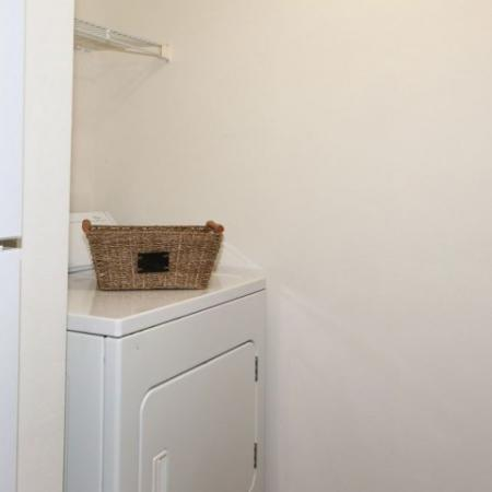 In-home washer and dryer | The Pavilions apartments in Manchester