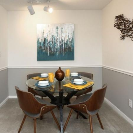 Dining Room in 2 bedroom apartment