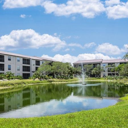 Water views for apartments at The Brittany | Indialantic rentals