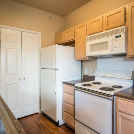Kitchen with electric appliances | apartment in Austin TX