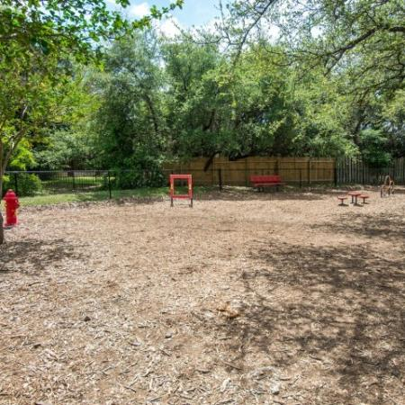 Dog park with agility equipment | Madison at the Arboretum | Dog friendly community