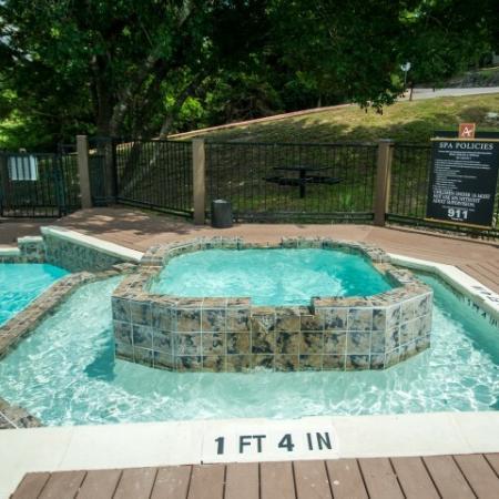Poolside spa | Madison at the Arboretum apartment complex