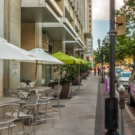 Street level retail | The Paramount high rise apartments