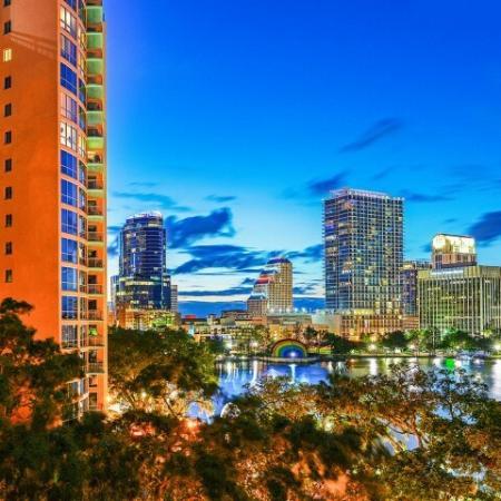 Orlando skyline views from The Paramount apartments