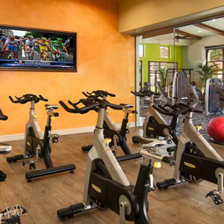 Cycling studio with fitness on demand classes | Villas at San Dorado gym