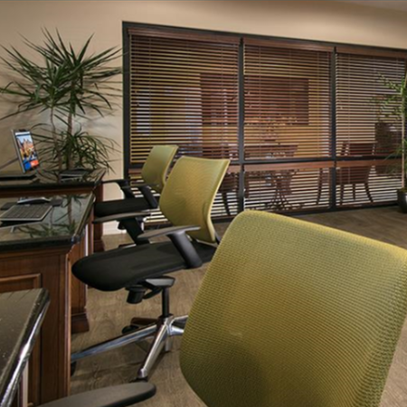 Work stations in Villas at San Dorado apartment business center