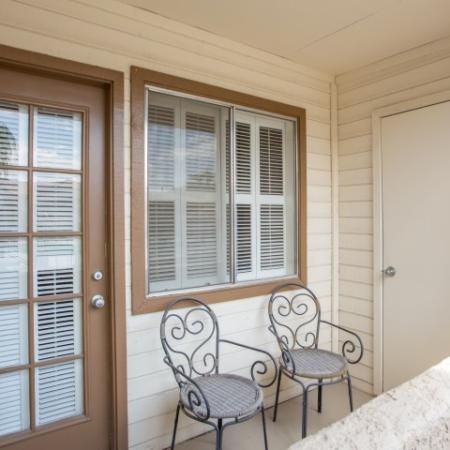 Private balcony   Promontory apartments