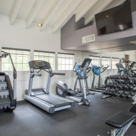 Apartment gym | Weight and cardio equipment | Promontory | Tucson