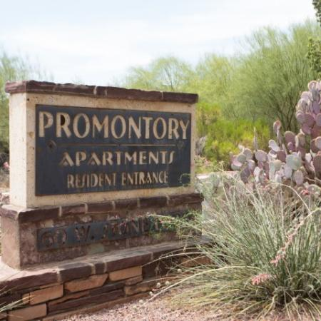 Entrance to Promontory apartment homes | Tucson AZ