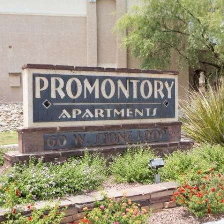 Promontory apartment homes entrance