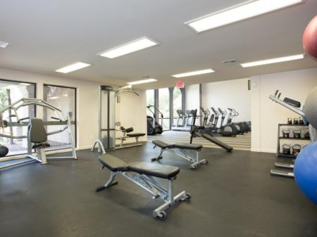 Apartment gym at Hilands