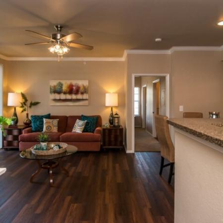Living room with hardwood floors | Madison at Walnut Creek