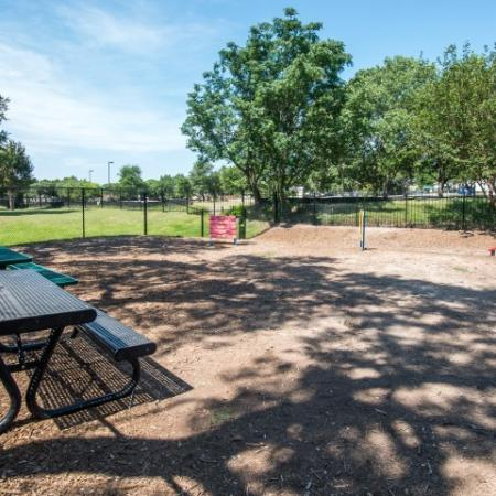 Dog park with equipment | Austin TX pet friendly rentals