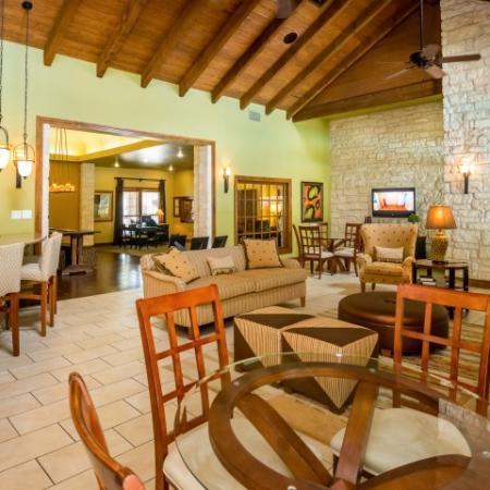 Community clubhouse at Sedona Springs apartment complex in south Austin