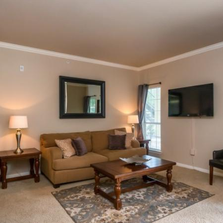 2 bedroom apartment living room in Sedona Springs