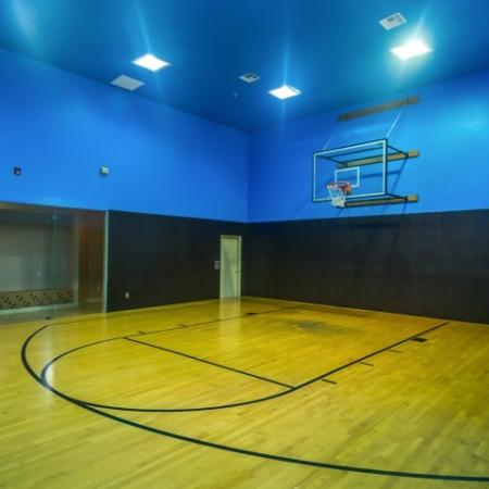 Indoor basketball court at River Stone Ranch apartments in south Austin